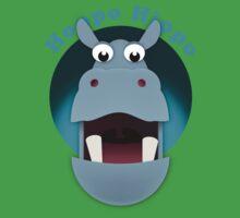 Hoppo Hippo - kiekeboo One Piece - Short Sleeve