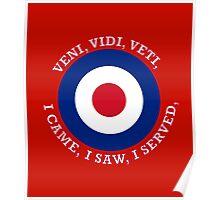 RAF Royal Air Force VVV Roundel Poster