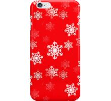 White Snowflake On Christmas Red iPhone Case/Skin