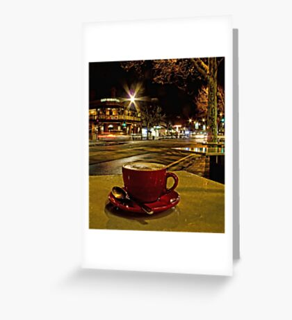 Latte on O'Connell Greeting Card