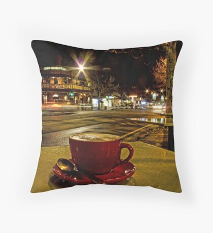 Latte on O'Connell Throw Pillow
