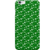Small White Snowflake On Christmas Green iPhone Case/Skin