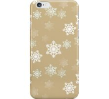 White Snowflake On Christmas Gold iPhone Case/Skin