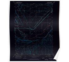USGS Topo Map Oregon Vale West 281951 1967 24000 Inverted Poster