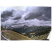 Pass in the Dolomites of Brenta Poster