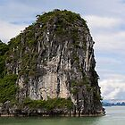Cliffs of Ha Long Bay - Vietnam by Cameron Christie