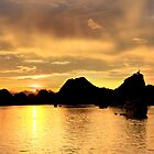 Sunset over Ha Long Bay - Vietnam by Cameron Christie