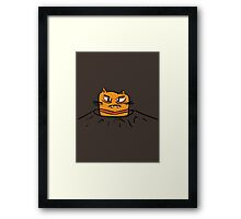 Grumpy Tunnel Cat Framed Print