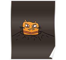 Grumpy Tunnel Cat Poster