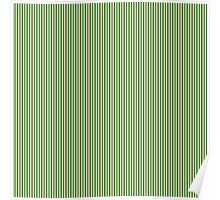 Gold Silver and Green Christmas Stripes Poster