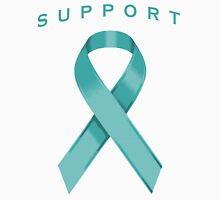 Teal Awareness Ribbon of Support Unisex T-Shirt