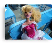 barbie goes to school Canvas Print