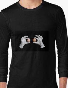 whole eggs in white gloves Long Sleeve T-Shirt