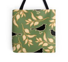 Ode to a Blackbird (Dark Green) Tote Bag