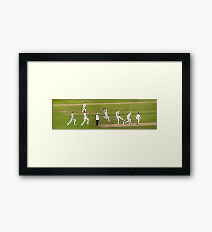 The England Fast Bowler Framed Print