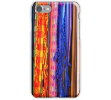 Shawls Hanging at the Outdoor Craft Market in Otavalo iPhone Case/Skin