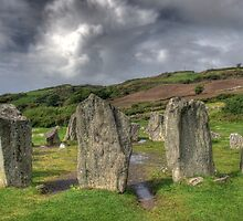 Ruins at Dromberg Stone Circle Ireland  by Brooke Becker