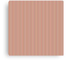 Red Green & Silver Christmas Stripes Canvas Print
