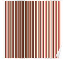 Red Green & Silver Christmas Stripes Poster