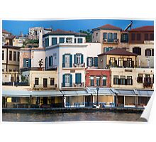 Creta, Chania, The old harbour Poster