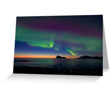 Aurora Borealis & sunset Greeting Card