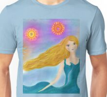 Sea and Sun Girl Unisex T-Shirt