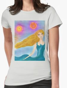 Sea and Sun Girl Womens Fitted T-Shirt