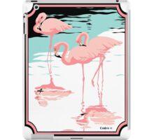 Pink Flamingos tropical retro pop art  iPad Case/Skin