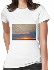 Fall Sunset 2 Womens Fitted T-Shirt