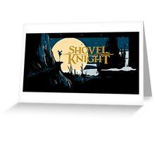 Shovel Knight title screen Greeting Card