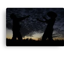 boys will be boys... Canvas Print