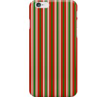 Red Green & White Christmas Stripes iPhone Case/Skin