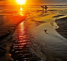 SUNRISE SURFERS by Scott  d'Almeida