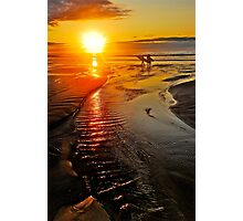 SUNRISE SURFERS Photographic Print