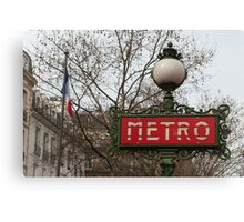 Le Metro, Paris. Canvas Print