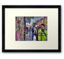 Reading the Wall of Hope - Peckham Framed Print