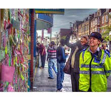 Reading the Wall of Hope - Peckham Photographic Print