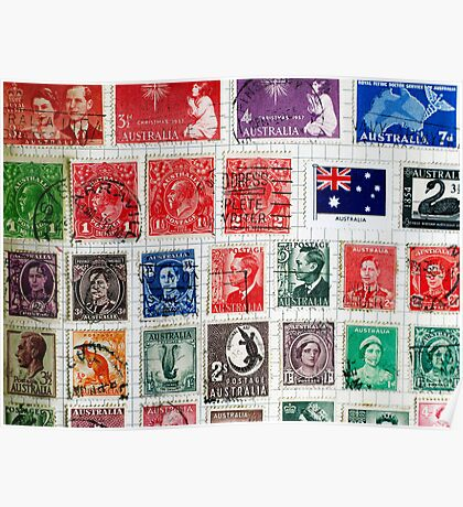 Old Stamps Poster