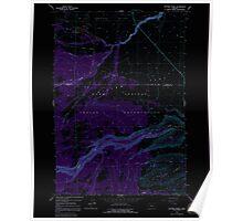 USGS Topo Map Oregon Potters Ponds 281152 1963 24000 Inverted Poster