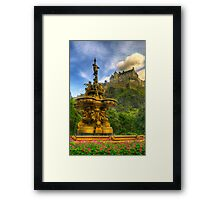 Edinburgh Castle & The Ross Monument Framed Print