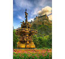 Edinburgh Castle & The Ross Monument Photographic Print