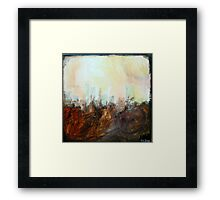Brown-Yellow Framed Print