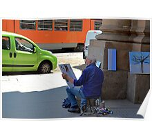 Sidewalk Picasso Poster