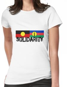 SOLIDARITY Aboriginal + Kanaky Womens Fitted T-Shirt