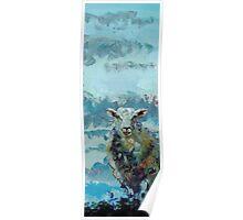 Narrow Colorful Sheep Art Poster