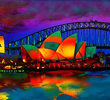 opera house at night by jimofozz