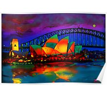 opera house at night Poster