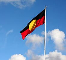 Aboriginal Flag by Cherie Vivar