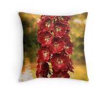 Summer Delphinium Throw Pillow