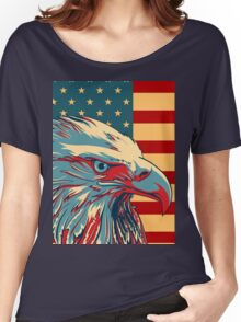 American Patriotic Eagle Bald Women's Relaxed Fit T-Shirt